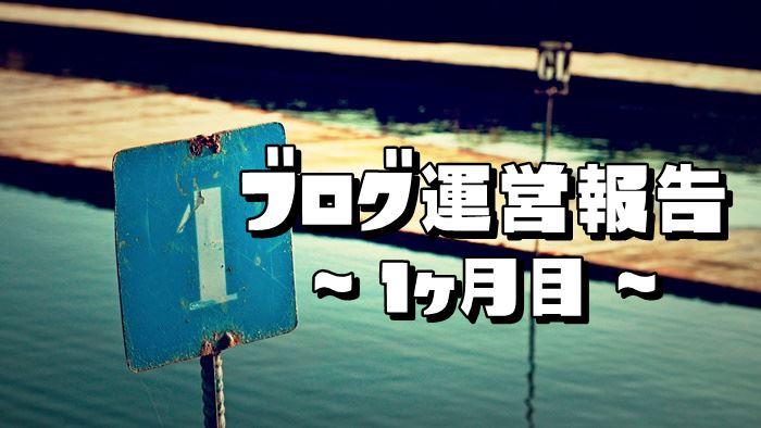 【ブログ運営報告】1ヶ月目