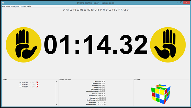 Prisma Puzzle Timerの使用画像