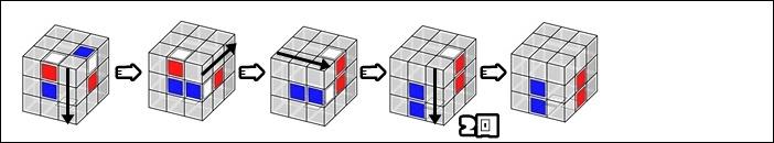 クロス2色を同時に揃える例2