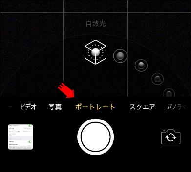 iPhoneのカメラのポートレートの選び方