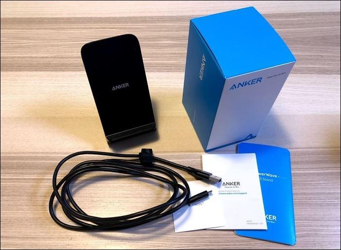 ワイヤレス充電器Anker PowerWave 7.5 Standの開封