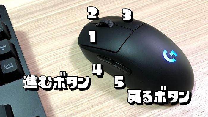 5ボタンのマウスの画像