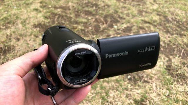 【パナソニック HC-V480MS レビュー】ビデオカメラはコスパが重要