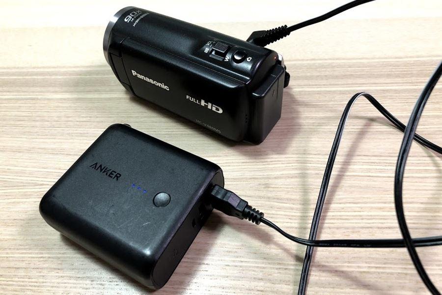パナソニック HC-V480MSはモバイルバッテリーが使える