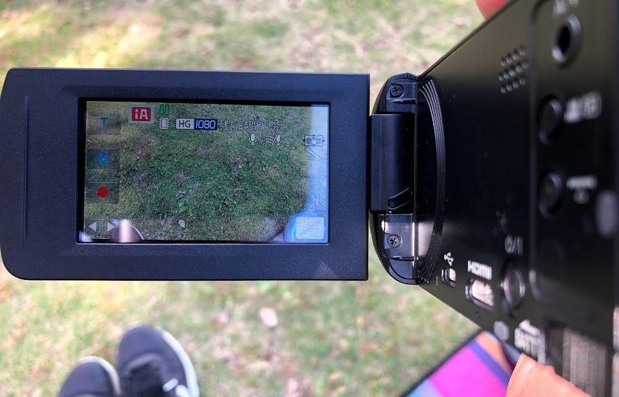 パナソニック HC-V480MSの液晶画面