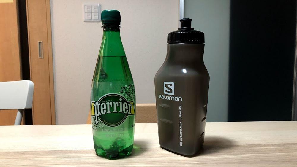 サロモン センシベルトの付属ボトルの大きさ比較