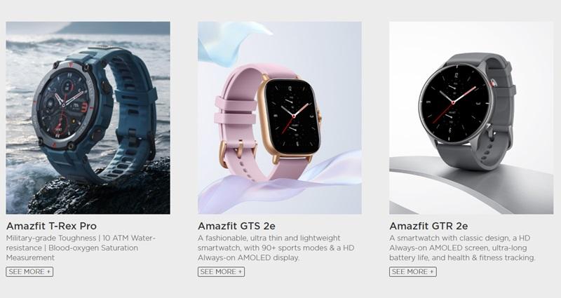 最新のAmazfit製品3機種