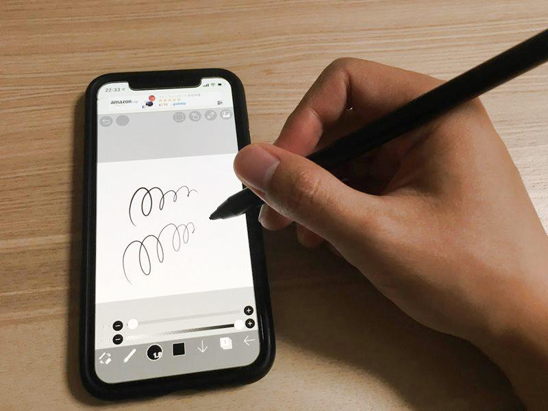 アイビスペイントは筆圧感知の機能が付いている