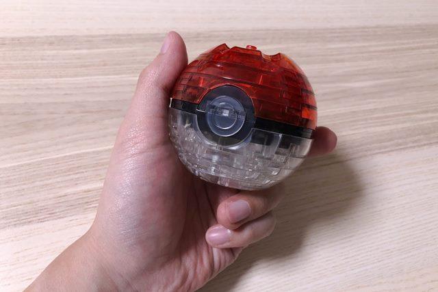 ジグソーパズル3D ピカチュウ&モンスターボールのモンスターボール完成図