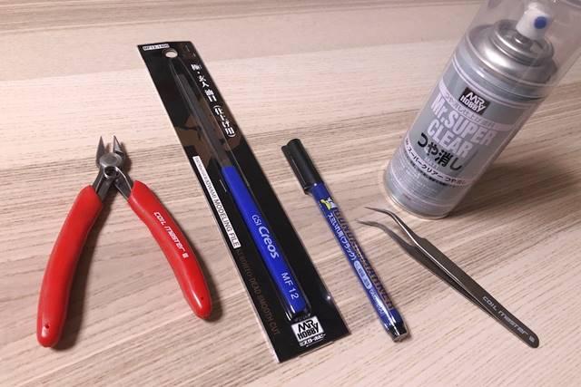 ガンプラの組み立てに必要な道具の一覧