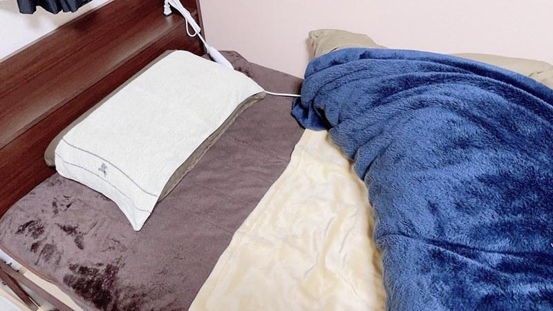 私のベッドの様子