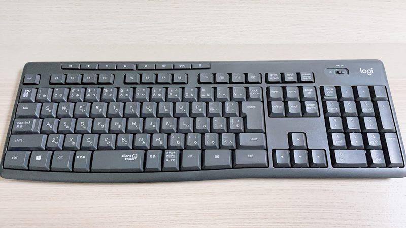 ロジクールK295のキーボード本体の外観の画像