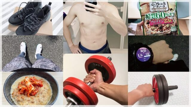 【ダイエット&筋トレ】5ヶ月で10kg痩せた食事と有酸素運動と筋トレとは