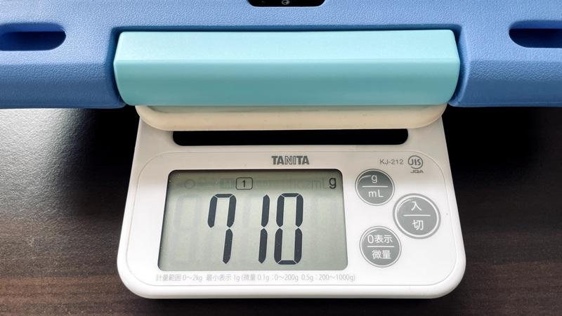 Fire HD 10 キッズモデルの重量は710g