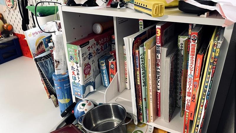 本棚から溢れる本
