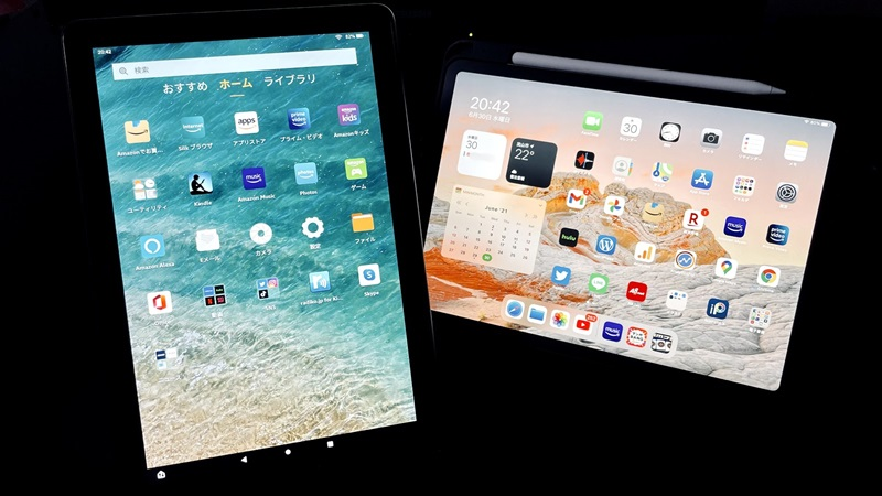 【Fireタブレットに出来ること】iPadと比べて良い点と悪い点を整理してみた
